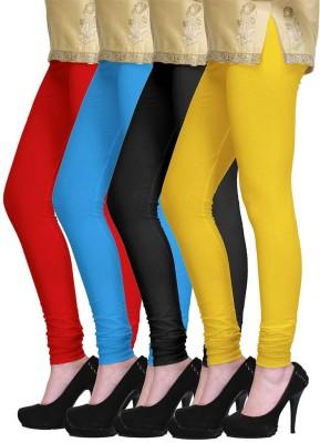 Lasunj Women's Red, Blue, Black, Yellow Leggings