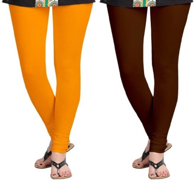 AbsoulteDesi Women's Orange, Brown Leggings