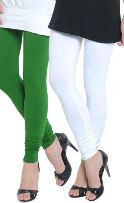 Tulsattva Women's Light Green, White Leggings