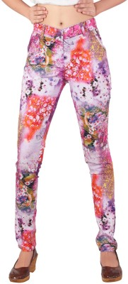 Inddus Women's Multicolor Jeggings at flipkart