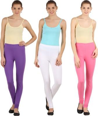 Silvio Women's Pink, White, Purple Leggings