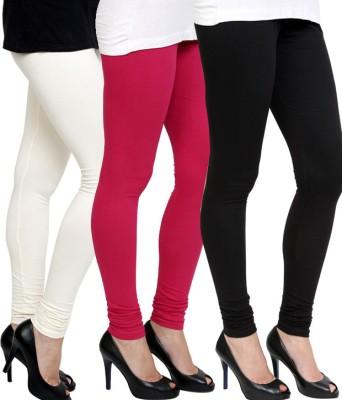Pannkh Women's Pink, Black, White Leggings