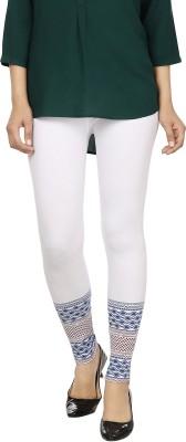 desistyle Women's White, Blue Leggings