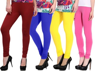 NGT Women's Maroon, Blue, Yellow, Pink Leggings