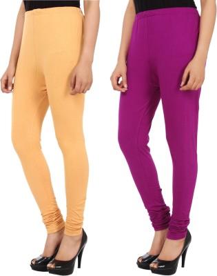 Xposé Women's Beige, Purple Leggings