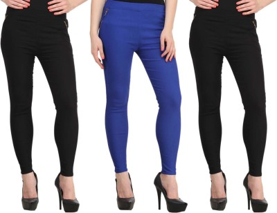 Atharv Collections Women's Black, Blue Jeggings