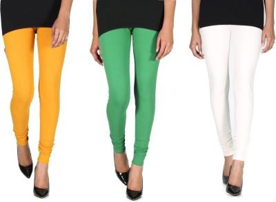 Ally Of Focker Women's Green, White, Yellow Leggings