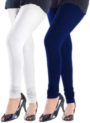 Trusha Dresses Women's White, Blue Leggings