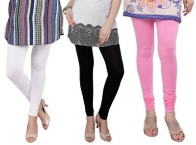 Prekrasna Women,s White, Black, Pink Leggings