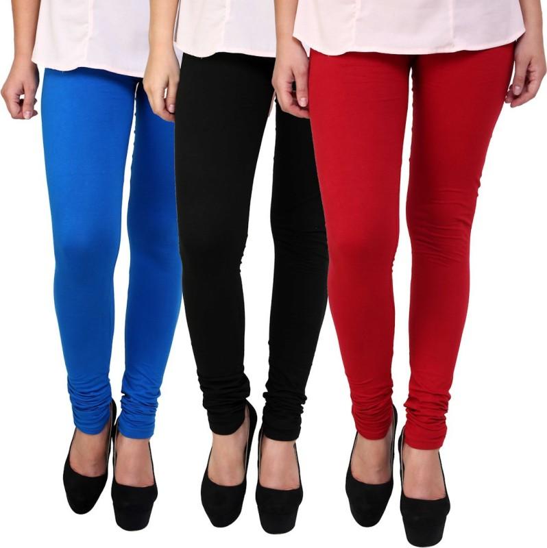 FR Women's Multicolor Leggings(Pack of 3)