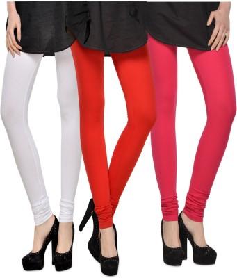 Kjaggs Women's White, Red, Pink Leggings