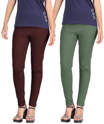 Hbhwear Women's Dark Green Jeggings