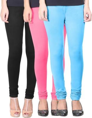 Eshelle Women's Black, Pink, Light Blue Leggings