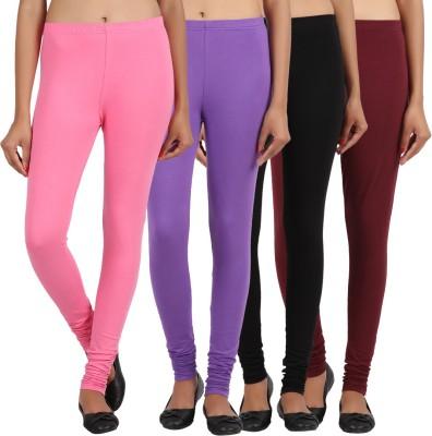 Sewn Women's Purple, Pink, Brown, Black Leggings