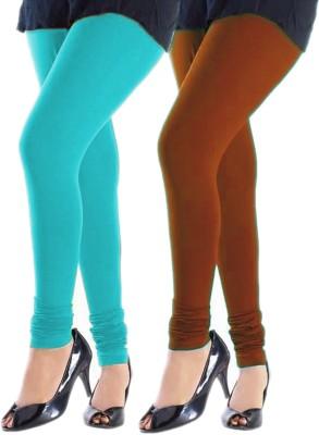 Trusha Dresses Women's Blue, Orange Leggings