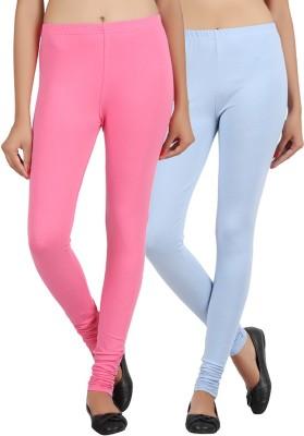 Sewn Women's Light Blue, Pink Leggings