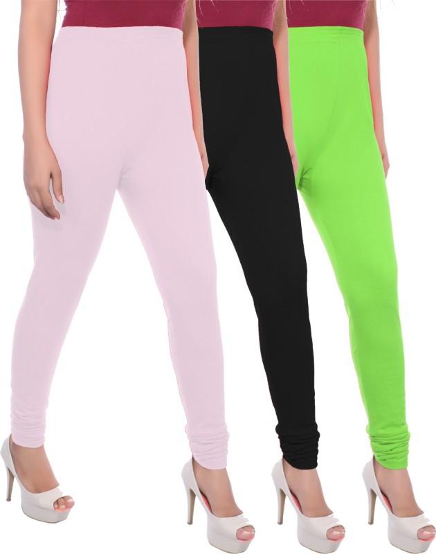 Apple Knitt Wear Women's Maternity Wear Pink, Black, Green Leggings(Pack of 3)