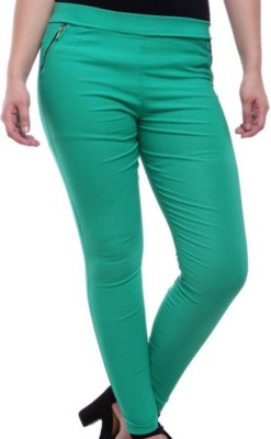 TouchMe Women's Green Jeggings