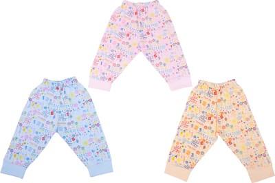 Cucumber Baby Girl's Orange, Blue, Pink Leggings
