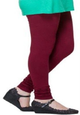 Desi Fusion Women's Maroon Leggings