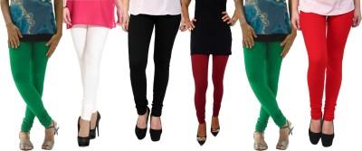 Escocer Women's Green, White, Black, Maroon, Red Leggings