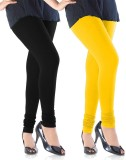 Emma Fashion Women's Black, Yellow Leggi...
