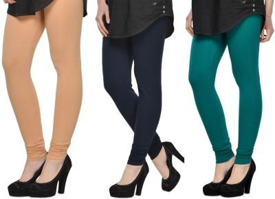 SareeGalaxy Women's Beige, Black, Dark Green Leggings