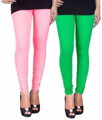 Ayesha Fashion Women's Pink, Green Leggings