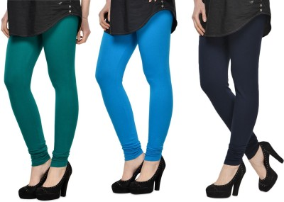 SareeGalaxy Women's Dark Blue, Light Blue, Black Leggings
