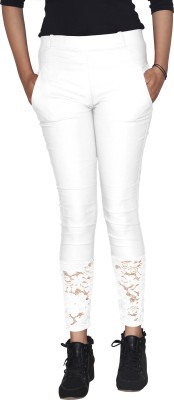 Ally The Creations Women's White Jeggings