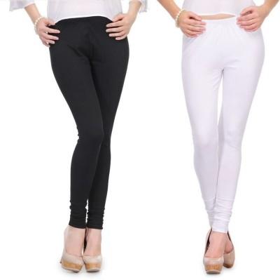 Body Size Women's White, Black Leggings