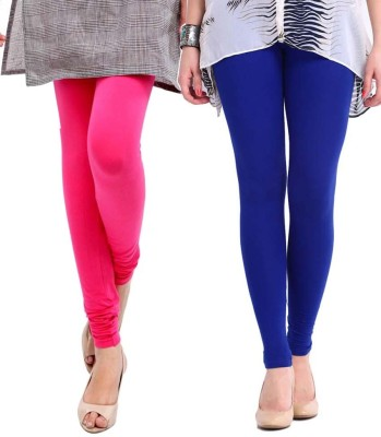 Sampoorna Collection Women's Blue, Pink Leggings