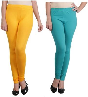 Ahhaaaa Women's Gold, Green Leggings
