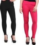 Magrace Women's Black, Pink Jeggings (Pa...