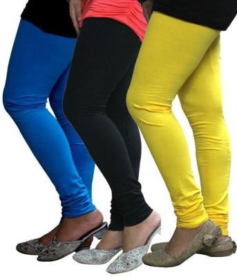 StyleJunction Women,s Blue, Black, Yellow Leggings