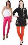 MDR Women's Orange, Pink Leggings (Pack ...