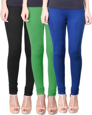 Eshelle Women's Black, Light Green, Dark Blue Leggings