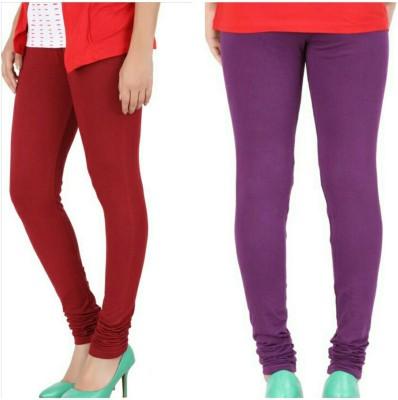 Chunri Women's Purple, Red Leggings