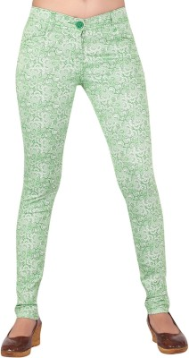 Inddus Women's Green Jeggings