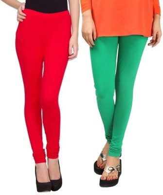 Sampoorna Collection Women's Red, Green Leggings