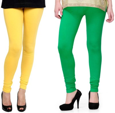 Kvell Be Proud Women's Yellow, Green Leggings