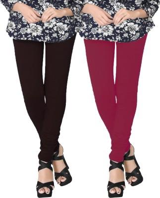 JV Wears Women's Brown, Red Leggings