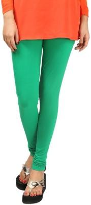 HAPPYSHOPP Women's Green Leggings