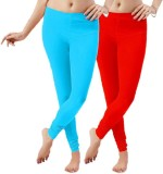 LGRL Women's Red Leggings (Pack of 2)
