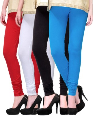Rexel Fashion Women's Red, White, Black, Blue Leggings