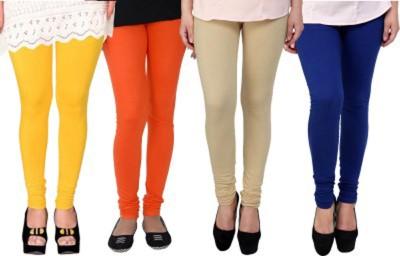 Roma Creation Women's Yellow, Orange, Beige, Blue Leggings