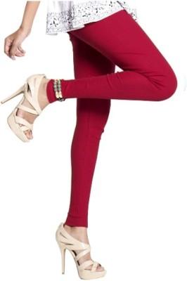 Notyet By Us Women's Maroon Leggings
