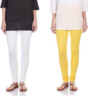 SRS Women's White, Yellow Leggings