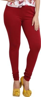 Lequeens Women's Red Leggings