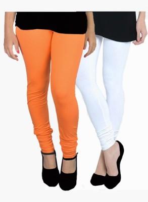 Uzee Women's Orange, White Leggings